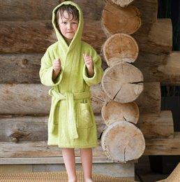Bio Bademantel für Kinder -Jungen & Mädchen- grün