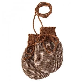 Neugeborenen Strick Handschuhe Schurwolle braun