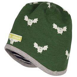 Wendemütze mit Wolle Bio Fledermaus grün