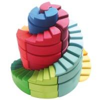Doppelläufige Stufenspirale 56 Teile