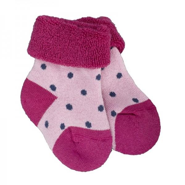 Babysöckchen aus warmen Frottee zum Umkrempeln pink rosa