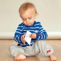 Baby Sweathose warm und robust in grau