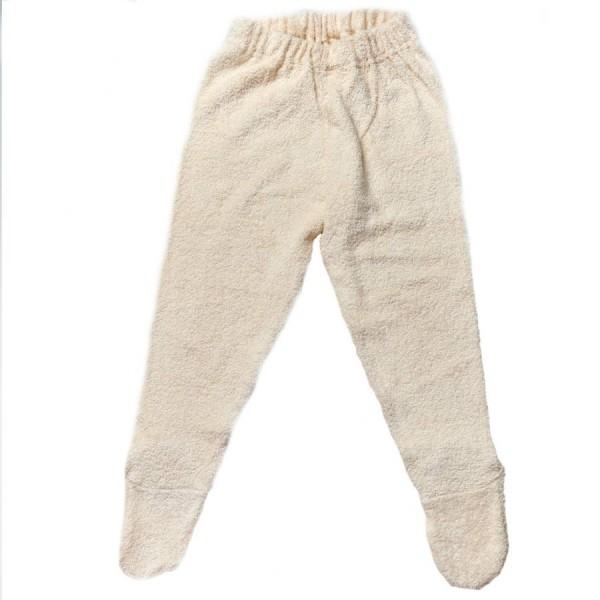 942e50355b9d70 Lange Frottee Unterhose mit Fuß für die Kühlere Jahreszeit