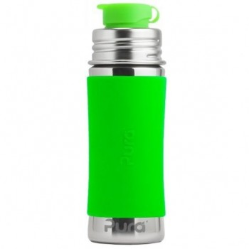Edelstahl Sportflasche Sportverschluss 325 ml grün
