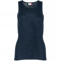 Damen Wolle Seide Tank Top in dunkelblau