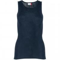 Damen Wolle Seide Tank Top in dunkelblau