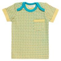 Bio Baby T-Shirt Schlupfkragen gelb