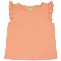 Bio T-Shirt leicht Schmetterlingsärmel lachs