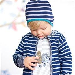 Wendemütze für Kleinkinder mit 2 Designs - navy