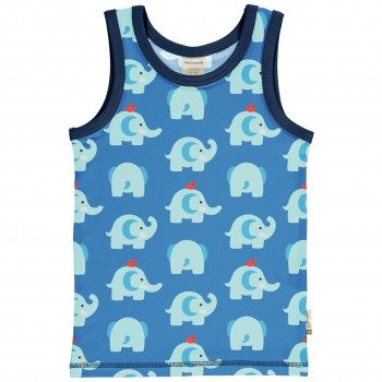 Unterhemd Elefanten in blau