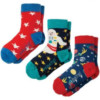 Kinder Jungen Bio Socken 3er Pack Space