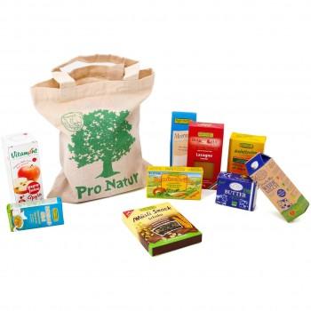 21 Faltschachtel Bio Produkte + Tasche