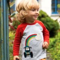 Robustes Shirt langarm mit Traktor-Aufnäher