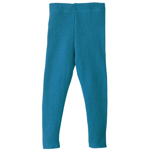 Wolle Leggings warm mitwachsend blau