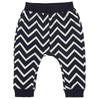 Warme coole Babyhose neutral zig zag