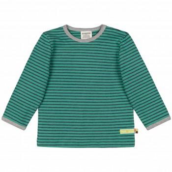 Langarmshirt oliv-grün geringelt