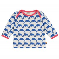Bio Shirt Delfin langarm pacific