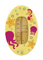 Badethermometer mit übersichtlicher Skala gelb