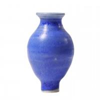 Grimms Stecker Blaue Vase Keramik für Geburtstagsring