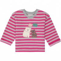 Baby  Sweater  mit  Eisbär-Aufnäher  pink