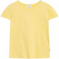 Struktur Shirt kurzarm uni in gelb