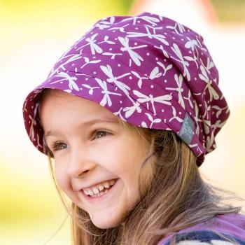 Leichte Schirmmütze Luna breite luftige Kopfform lila