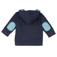 Vorschau: Sweatjacke für Kinder Loud and Proud blau/grau