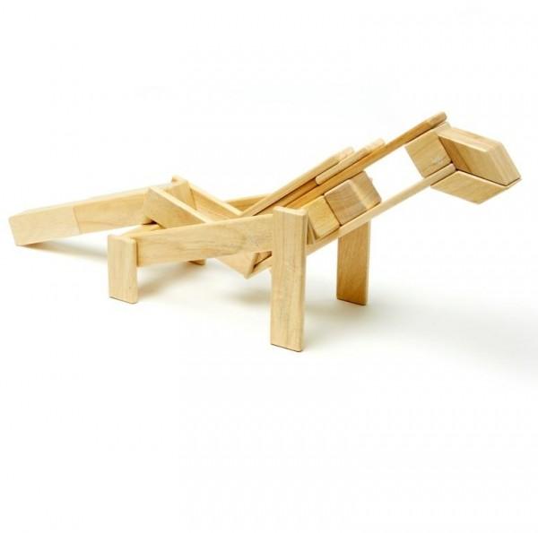 Magnet-Holzbauklötze-Natural 42-teilig