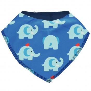 Leichtes Dreiecktuch Elefanten in blau