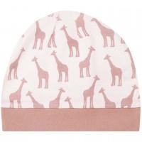 Rosa Babymütze Giraffen