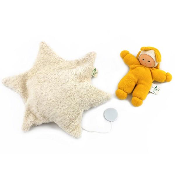 Sternenbett Spieluhr mit Sternenpuppe