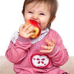 Baby Shirt softe Bündchen Apfel Aufnäher