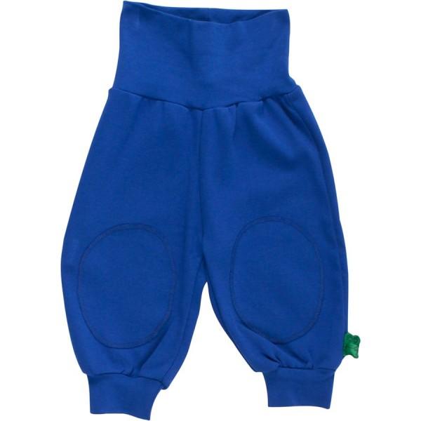 Krabbelhose softe breite Bündchen royalblau