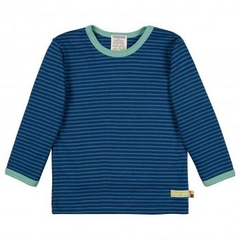 Weiches Ringel Shirt langarm in dunkelblau