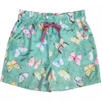 Leichte Popeline Shorts Schmetterlinge
