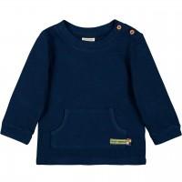 Strukturierter Pullover Kängurutasche in dunkelblau