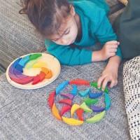 Bauspiel Farbenrad Mandala ab 3 Jahren regenbogen