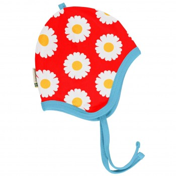 Babymütze leicht mit Ohrenschutz Gänseblümchen