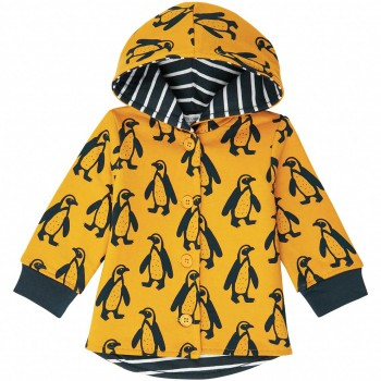 Sweatjacke  Pinguine  senf-gelb