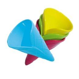 Sandspielzeug Eistüte 4 Stück geschwungen