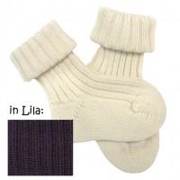 Babysocke Schurwolle schöner Strick mit Umschlagbündchen