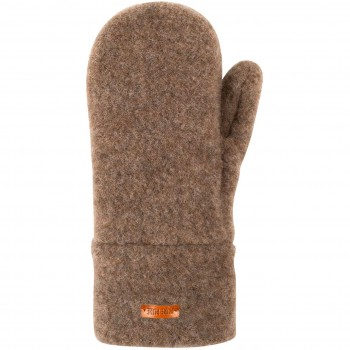Kinder Handschuhe Wolle walnuss-braun