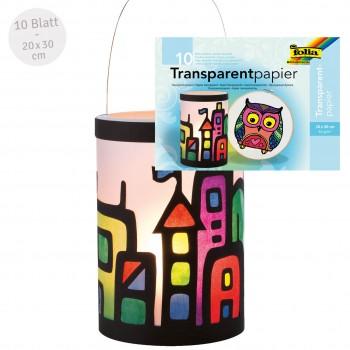Transparentpapier bunt 20x30 cm 10 Blatt