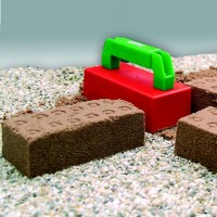 Backsteinform Sandspielzeug grüner Griff