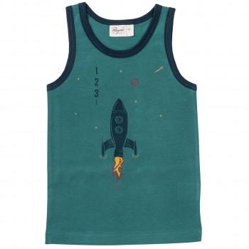 Jungen Unterhemd Rakete in türkis
