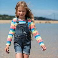 Mädchen Jeans Latzhose kurz