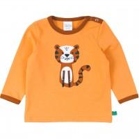 Tiger Langarmshirt in hellem orange
