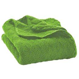 Leichte Babydecke Wolle Bio 80x100 cm grün
