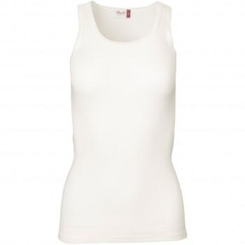 Damen Wolle Seide Tank Top in weiß