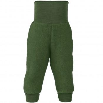 Woll Fleece Hose Softbund schilf-grün